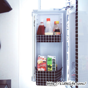 冷蔵庫にYOJO TAPEを貼ってみました