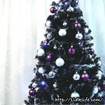 黒いクリスマスツリー