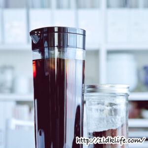 我が家のアイスコーヒーは水出しスタイル。