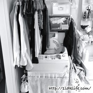 汚部屋写真_洗濯機