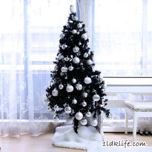 我が家のモノトーンクリスマスツリー2020_昼