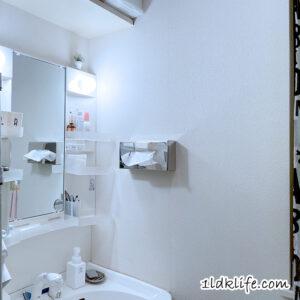 洗面所のペーパータオルボックス。